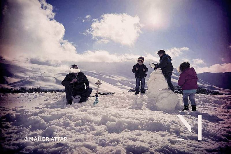 Beware the snow ... Beware the hookah .. lifestyle humansfromlebanon ... (Cedars of God)
