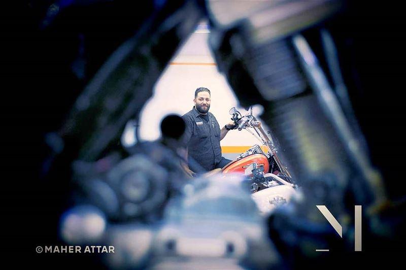 """Meet Mohammed ... HD technician. """"A mechanic is just an engineer in blue... (Beirut, Lebanon)"""