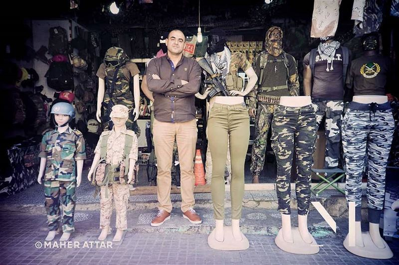 "Meet Nabil ... Military surplus accessories store. ""Work isn't to make... (Beirut, Lebanon)"