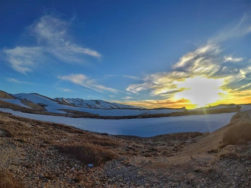 Sunset + Snow=Perfect Combination......... GoProHero5 ... (عيون السيمان كفردبيان)