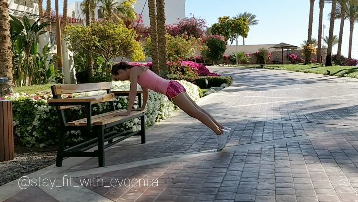 "✅ My favorite Exercises ""Push-ups & One leg Push-ups"" for chest, back,... (Sharm el-Sheikh)"