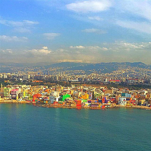 Welcoming colors ❤️💛💚💙💜.......... lebanon lebanon_hdr ... (Beirut, Lebanon)