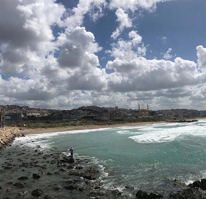 What is better than a sunny day on a beach!💆‍♀️💆‍♂️ photography ... (Saïda, Al Janub, Lebanon)
