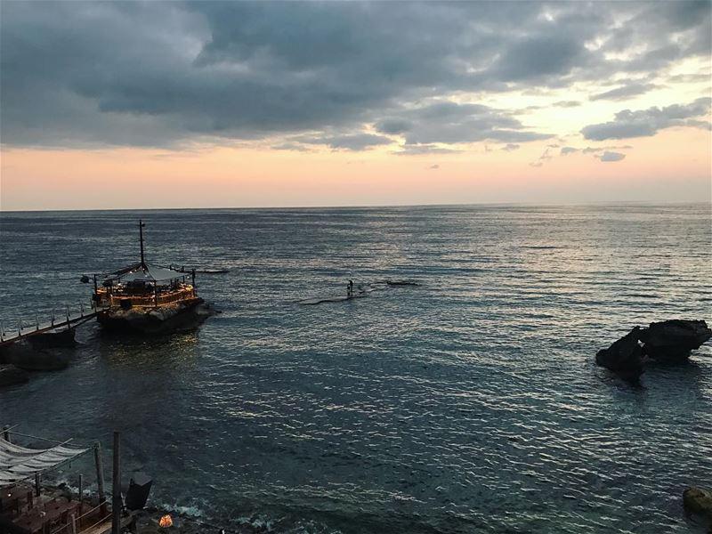 Wondering if... 💭 lebanon beautiful view landscape sea horizon ... (Batroûn)