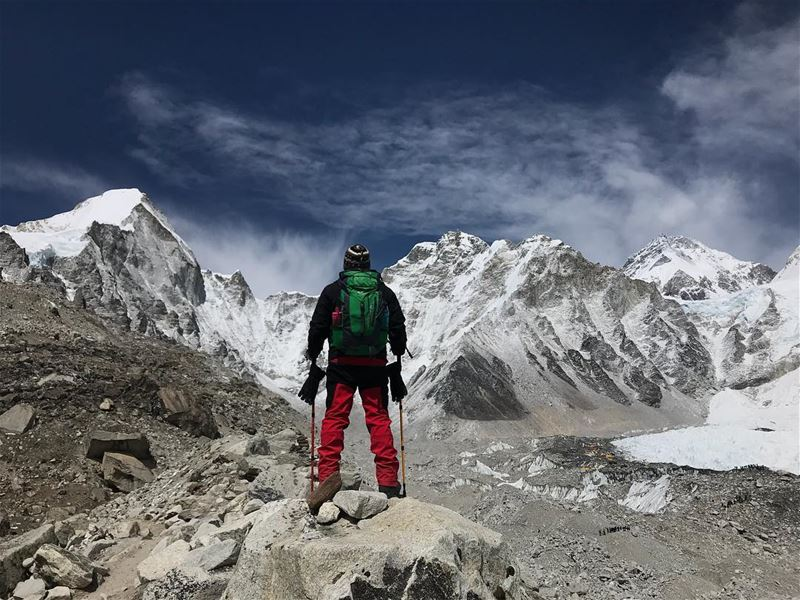 The Himalayas - Sagarmatha National Park - very cold and less oxygen yet... (Everest BC - 5364 m)