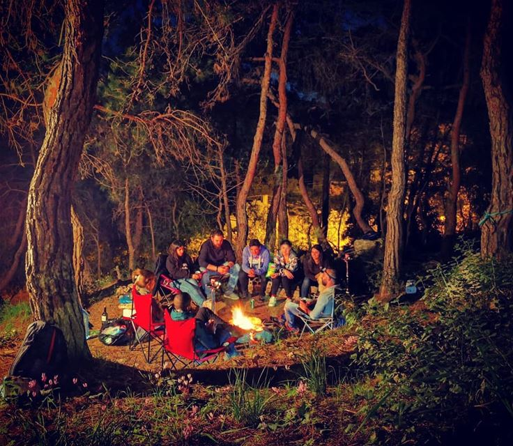 Who said nights where for sleep nightcamp camping lebanon friends ...