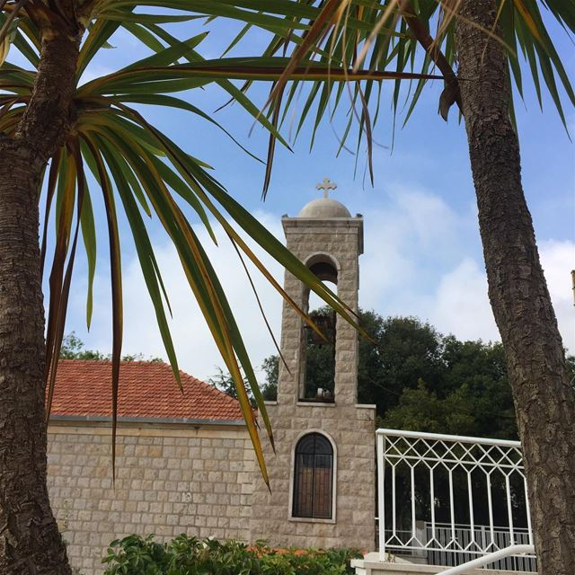 Sunday Easter church bell lebanon instalike ig_lebanon ... (Sainte Therese Shaile)