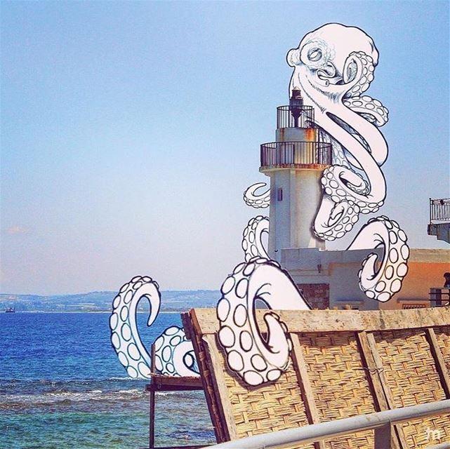 -W e n t T o T y r e , S a w A n O c t o p u s -(Repost: @elmaalouf )..... (Tyre, Lebanon)