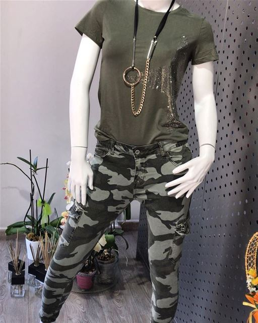 Olive green camouflage outfitDailySketchLook 228 shopping italian ... (Er Râbié, Mont-Liban, Lebanon)