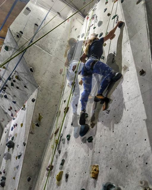 I like to have active weekends. I feel really tired after climbing, but... (U Rock Climbing)