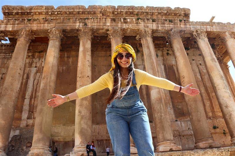 All mine😁... baalbak bekaa zahle lebanon_hdr temple ... (Baalbek , Roman Temple , Lebanon)