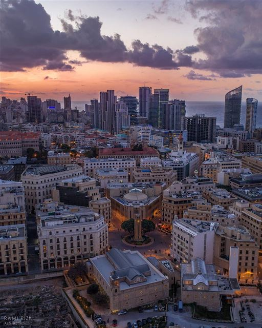 Good Night Beirut 🌆... lebanon beirut dji drones quadcopter ... (Downtown Beirut)