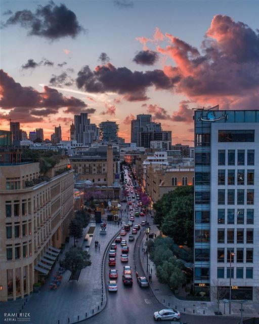 Every Sunset Brings The Promise Of A New Dawn 🌆... beirut downtown ... (Downtown Beirut)