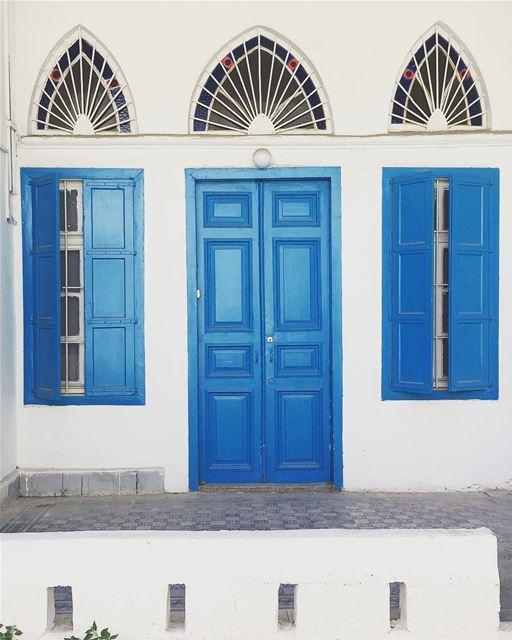 architecture arches blue design wall door ... (Lebanon)