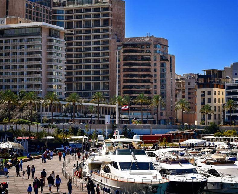 beirut lebanon liban zaytounabay zaitunaybay sunny day sunnyday ... (Zaitunay Bay)
