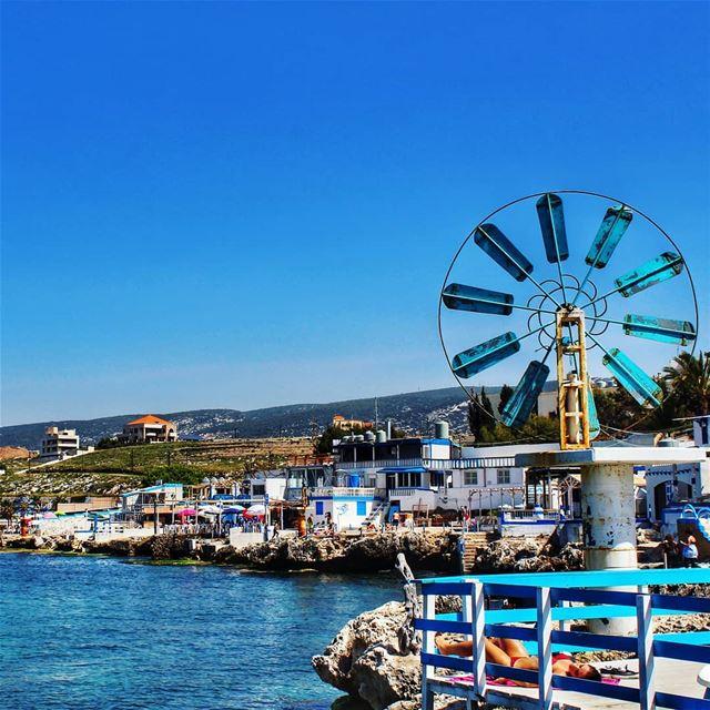 BLUE 🌊 anfeh ig_lebanon...... meetlebanon lebanon ... (Anfeh Al-Koura أنفه الكورة)