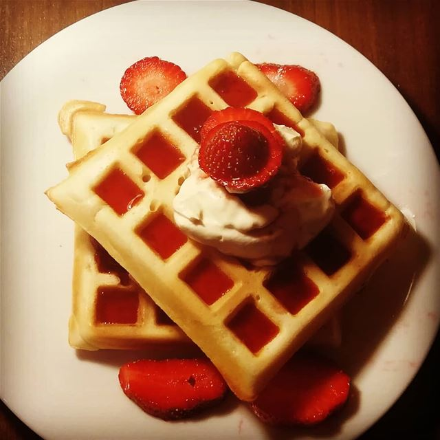 wafflehouse hand_made_waffle wafflemaker waffle waffles foodphotography... (Brîtel, Béqaa, Lebanon)