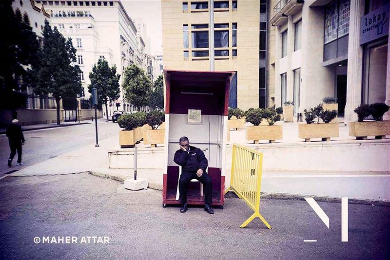 The sleeping guard .. lifestyle humansfromlebanon mediterranean beirut... (Beirut, Lebanon)