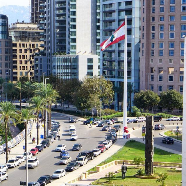 We'll keep our flag flying... 🇱🇧🇱🇧...  beirut  lebanon_living_legacy ... (Minet el Hosn)