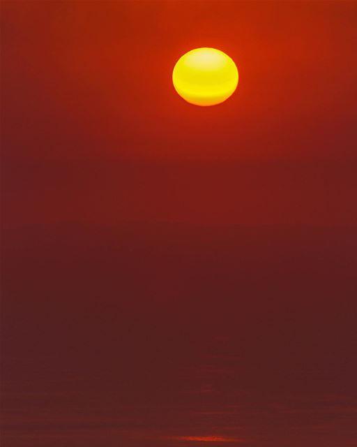 Sunset sunshine sea sky landscape nature beautifullebanon lebanon_hdr... (Kayfun, Mont-Liban, Lebanon)