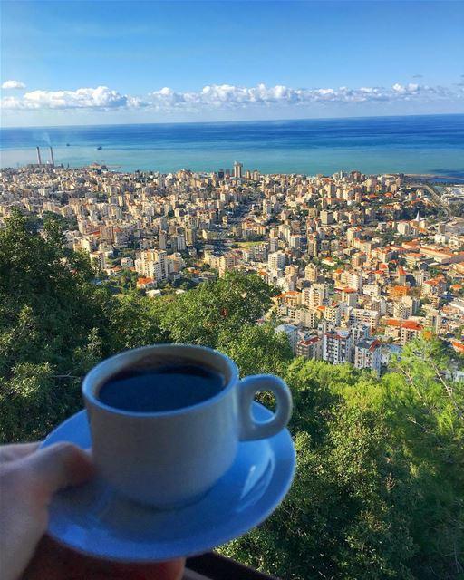 When two coffee lover meet..... coffee turkishcoffee ramramcoffee ... (Harîssa, Mont-Liban, Lebanon)