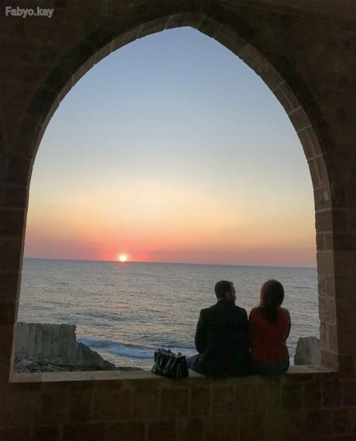 libanon batroun sunset arcades love super_photosunsets lebanonspotlights... (Batroûn)