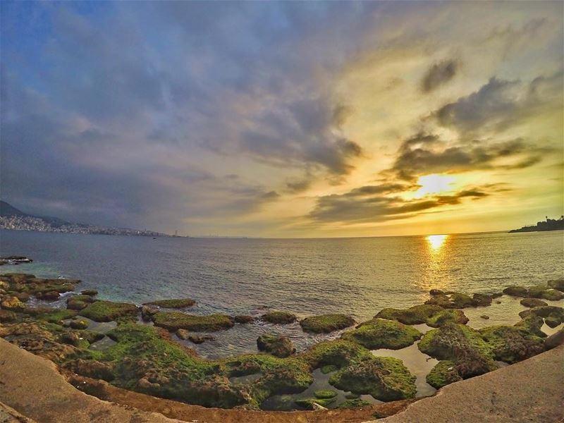 Sunset 🌅 ....... GoPro GoProPhotography GoProHero5 GoProHero6 ... (جونية - Jounieh)
