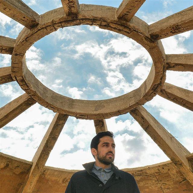 An architectural halo 🙇♀️My handsome boyfriend💙💙 @tony.younes (( this... (Al Batrun, Liban-Nord, Lebanon)