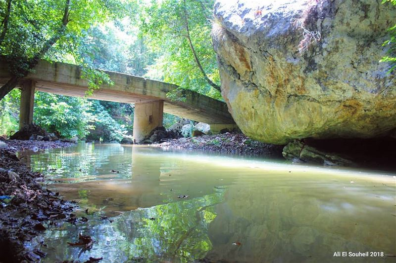 tb ghaboun mountlebanon bridge river nature rock reflection trees... (Ghaboun, Mont-Liban, Lebanon)