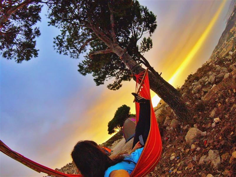 Disconnect to find the right connection. hammock camping earthpix ... (Lebanon)