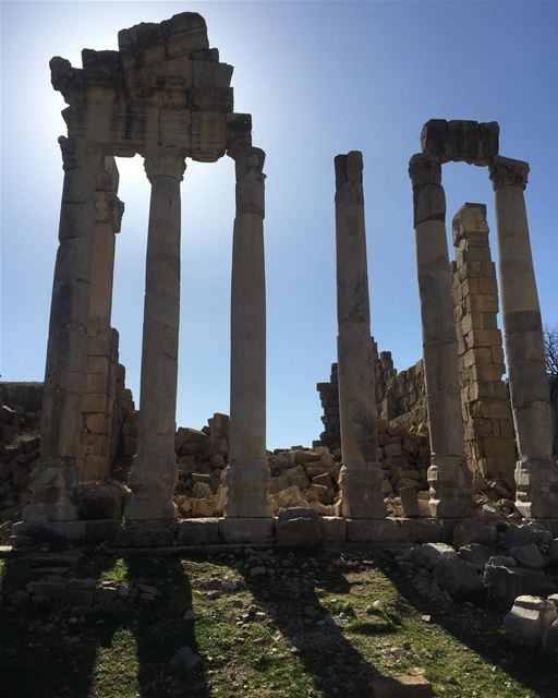 The Faqra Roman temple at Kfardebian templesoflebanon  lebanontemples ... (Faqra scenes)