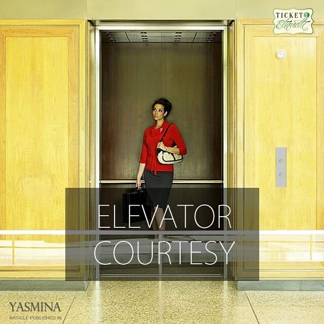 Vera on how to practice good elevator etiquette with @gracytta in @yasmin (Lebanon)