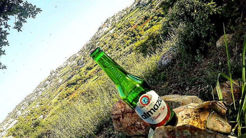 yarounday yaroun southlebanon nature beer green sky beeronahotday ...