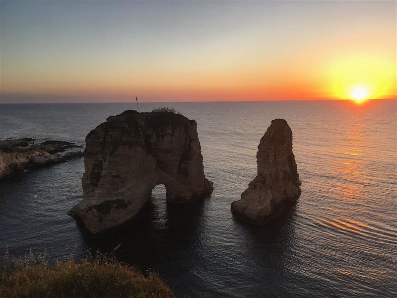 I'm a tourist in my own country 😍 ..... lebanon  sunset ... (Beirut- Al Rawsheh)