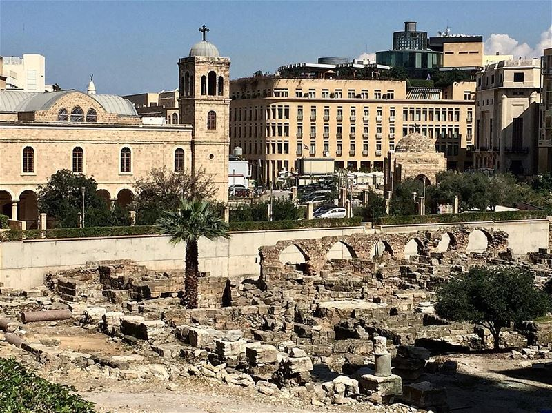 The Roman bathhouse was a meeting place for all citizens.. Beirut was and... (Beirut, Lebanon)