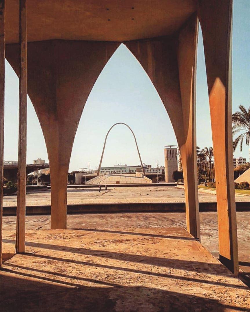 The Rachid Karameh Fairground in Tripoli, designed by Brazilian architect... (Maarad Rachid Karameh)