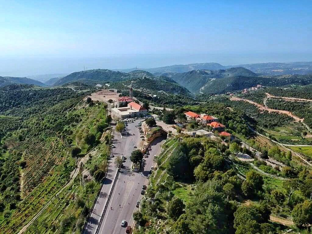 That peaceful place 🙏🏻❤️  dronegear  natgeo  dronephotography ... (Mazar Saint Charbel-Annaya)