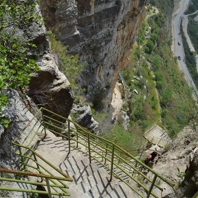 Stairways to heaven🇱🇧❤😍 hiking adventure trails peak stairs ... (Akoura, Mont-Liban, Lebanon)
