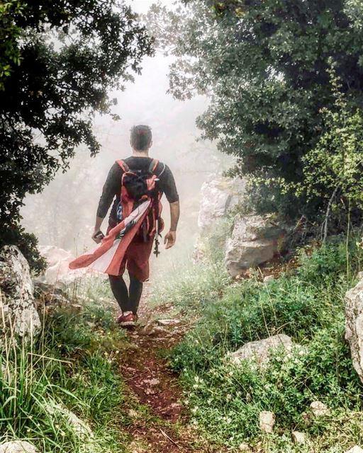 Walking into the fog 🌿🇱🇧..📸: @yarasakrr (Douma, Liban-Nord, Lebanon)