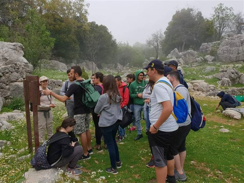 Enjoying their hike in JabalMoussa despite the foggy weather. unescomab...