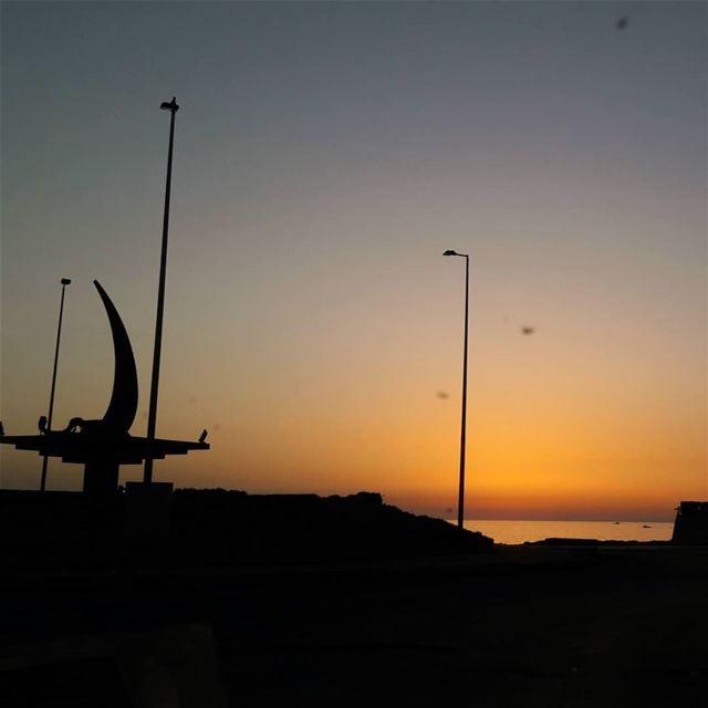 Sunset 🌅 Tripoli Lebanon Sunsets SunsetPorn ElMina Mina Colors ... (Corniche El Mina Tripoli)
