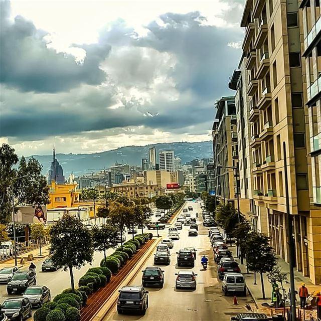 Beirut...🍃.. spring grey mood rain........... ... (Beirut, Lebanon)