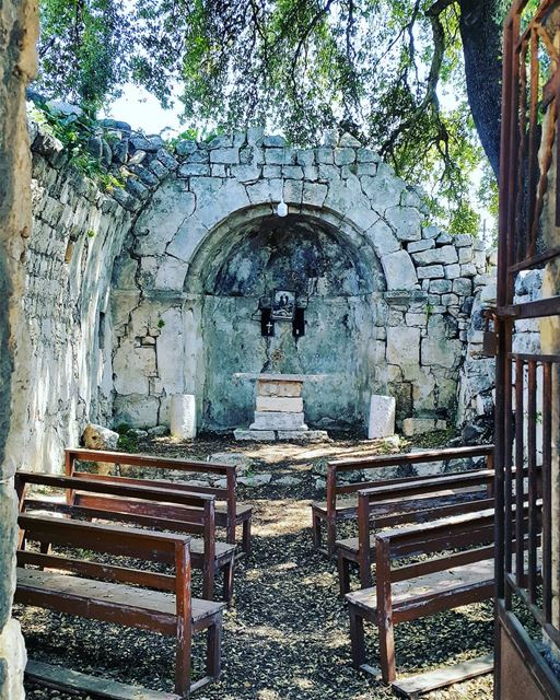 """Go where your prayers take you"" church oldplaceshavesoul nature... (Smar Jubayl, Liban-Nord, Lebanon)"