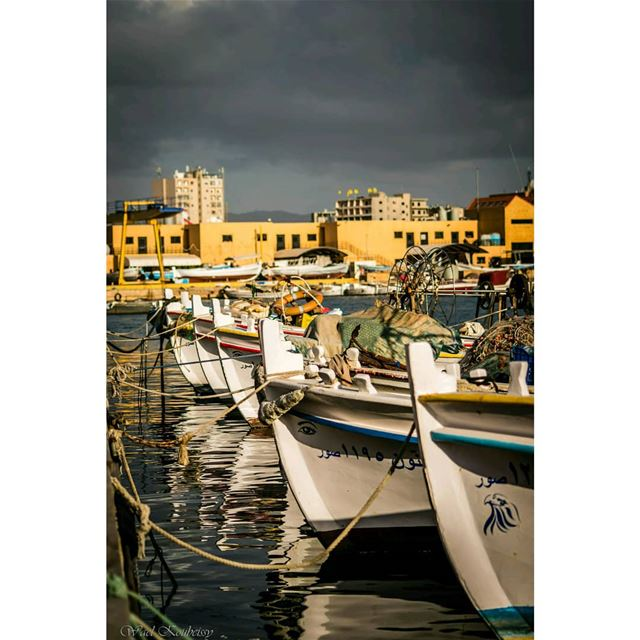 tyre  lebanon  boat  boats  fishing  fishinglife  buildings  city  sea ... (Tyre, Lebanon)