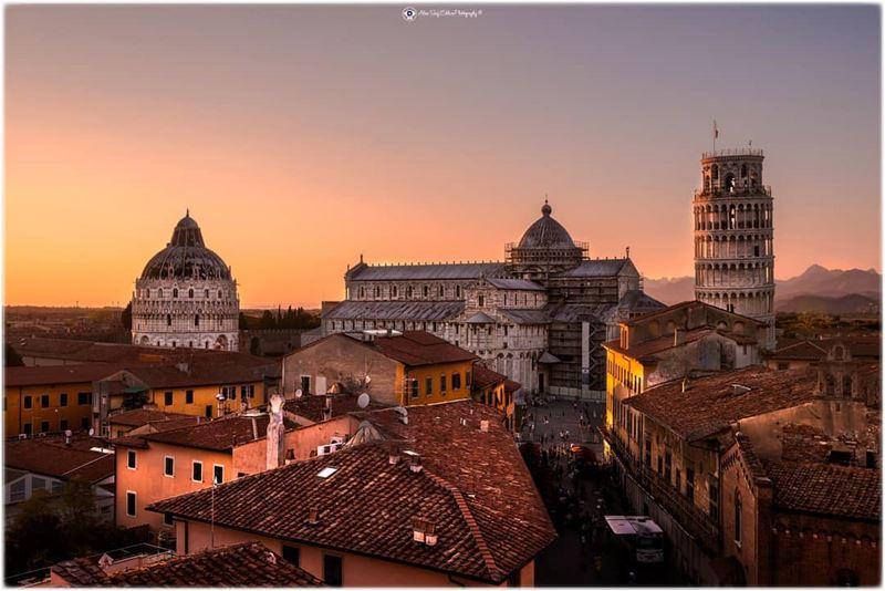 Have you witnessed sunset in Pisa?.... sunset sunset_hunter igworld... (Pisa, Tuscany, Italy)
