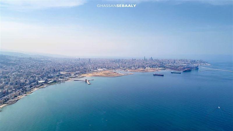 Lebanese coast dji drone photo dbayeh lebanon beirut sea coast ... (Dbayeh, Mont-Liban, Lebanon)