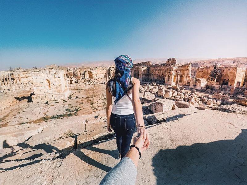 Go where you feel most alive...... livelovebeirut explore ... (Baalbek , Roman Temple , Lebanon)