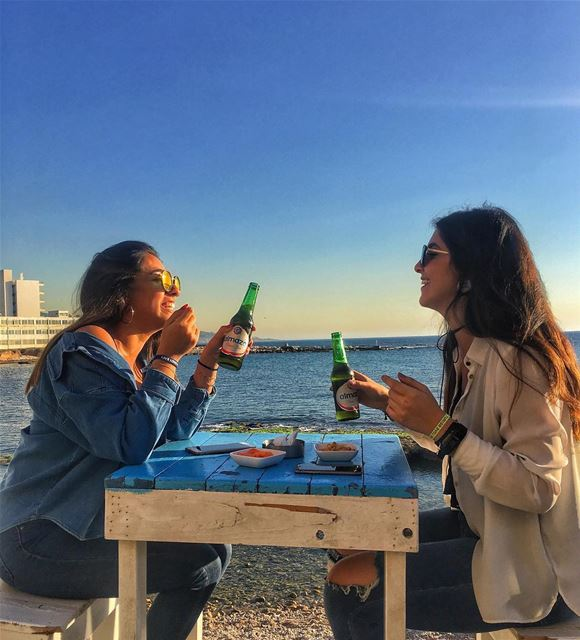 Cheers to an everlasting Friendship 🍻Photo taken by @ninaa.daher ☺️... (RAY's Batroun)