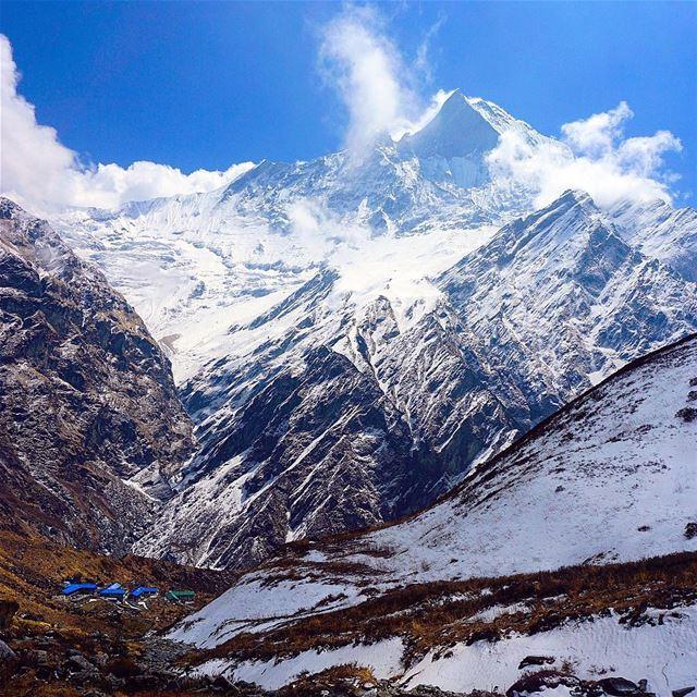 Your world is big as u can make it, begin imagining. 📍Machhapuchhre Base... (Machhapuchhre Base Camp, Himalaya)