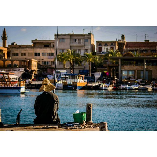tyre lebanon boats fishing fishinglife buildings city sea ... (Tyre, Lebanon)